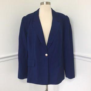 Eloquii Blue One Button Blazer